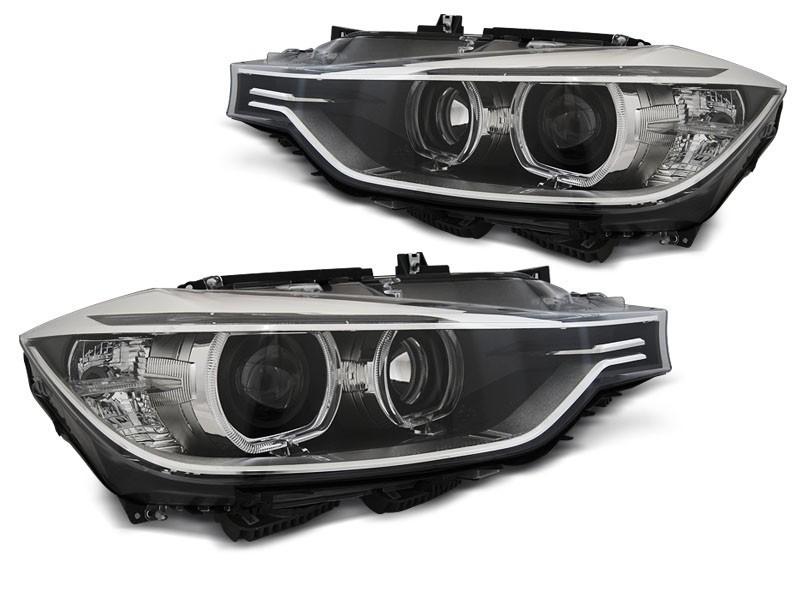 Scheinwerfer Bmw F30 F31 10 11 05 15 Angel Eyes Led Black